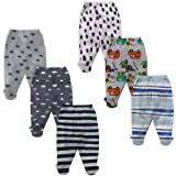 NammaBaby Infants Pajama Leggings with Booties - Set of 6