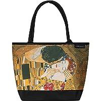 VON LILIENFELD® Borsa Shopping Gustav Klimt: Il bacio Spiaggia Shopper Tracolla Spazioso Saccoccia