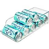 InterDesign Fridge/Freeze Binz bac de stockage pour frigo, box de rangement en plastique, boite rangement pour 9 canettes de