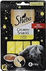 Sheba Creamy Snacks cremiger Katzensnack mit Huhn (4 x 12g)