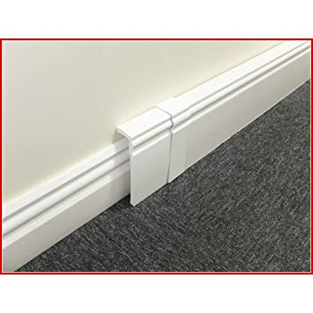 Sensational Under Cover White Skirting Board Cable Tidy Amazon Co Uk Electronics Wiring Digital Resources Aeocykbiperorg
