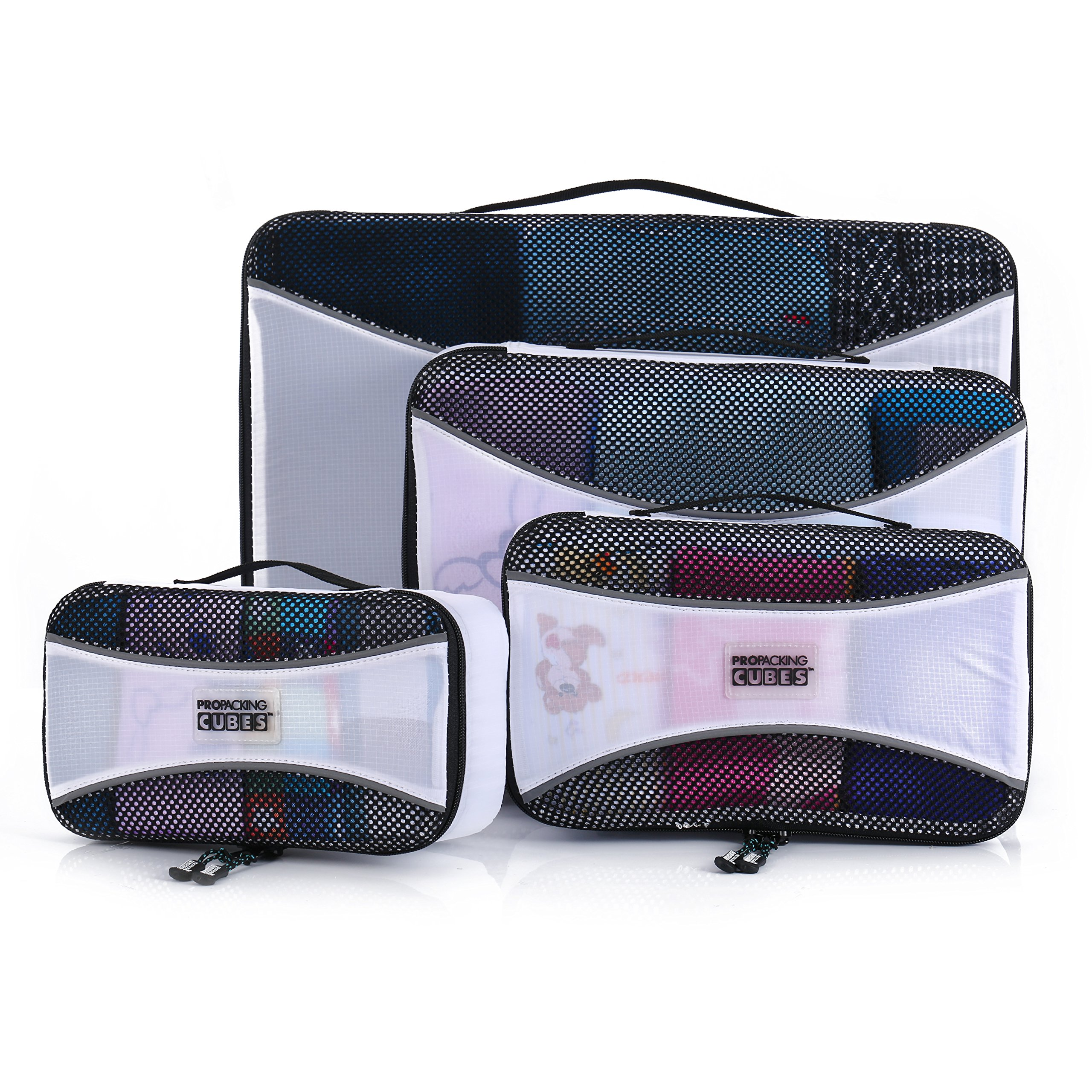 pro packing cubes 4 piece travel packing cube value set. Black Bedroom Furniture Sets. Home Design Ideas