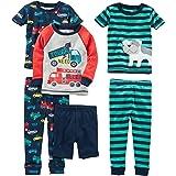 Simple Joys by Carter's Niños pijama de satén, Pack de 3