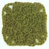 Square Crochet Motif along with Symbolic patterns