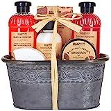 BRUBAKER Cosmetics - Coffret de bain & douche - Fleur de coquelicot - 7 Pièces - Bassine vintage décorative - Idée cadeau