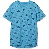 Under Armour Print SS Sports T-shirt for Boys - Ether Blue/Petrol Blue