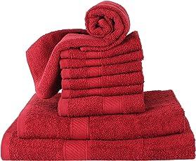 Rangoli 380 GSM Pure Cotton Towel of 10 Pcs Set