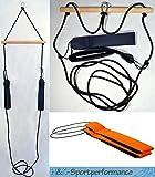 H&K-Sportperformance Schlingen Suspension Functional Sling Trainer inkl. Abstandshalter mit orangenen Schlaufen