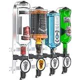 Barbarian 4/6 Bottle Optics for Spirits - Bar Butler Shot Measure Bracket Alcohol Wine Upside Down Drink Dispenser Home…