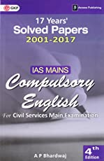 IAS Mains Compulsory English – 17 Years' Solved Papers 2001-2017