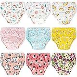 Confezione da 9 pezzi di biancheria intima da addestramento per ragazze, forma massima, per vasino, 2T, 3T, 4T