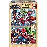 Educa - Marvel Super Heroe Adventures 2 Puzzles Infantiles de Madera ecológica de 25 Piezas, a Partir de 3 años, Multicolor (
