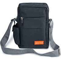 Storite Stylish Nylon Sling Cross Body Travel Office Business Messenger Bag for Men Women (25x16x7.5cm) (Dark Grey)