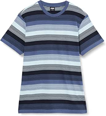 Urban Classics Men's Yarn Dyed Sunrise Stripe Tee T-Shirt