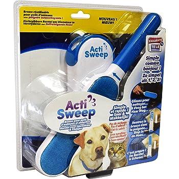 ACTISWEEP – Brosse réutilisable extra-large pour poils d'animaux et peluches avec poignée autonettoyante.