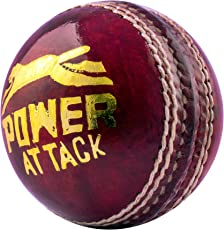Acorn Leather Cricket Power Attack Ball (Red, SGo0002)