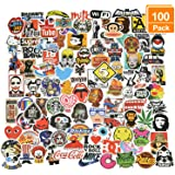 Willingood 100 stuks waterdichte vinylstickers in graffiti-stijl, voor auto, motorfiets, fiets, skateboard, snowboard, bagage