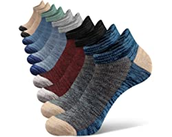 Closemate Mens Trainer Ankle Socks for Sports Athletic Cotton Non Slip Low Cut Running Socks 5 Pairs