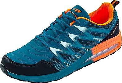 LEKANN 203 Mens Sports Shoes Running Trainers Cushioning Plus Size UK 12-14