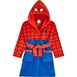 Marvel Albornoz Niños, Spiderman Albornoz Niño, Bata Niño Casa de Forro Polar con Capucha, Merchandising Oficial Regalos para