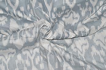 Rajcrafts Ikat Print Jaipuri Printed 2.5 Meter Fabric. Gray