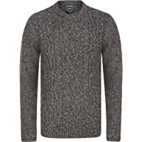 Tokyo Laundry Men's Chunky Cable Knit Crew Neck Jumper