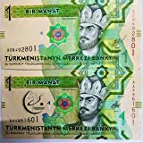 Novelty Collections-2 Currency Notes from Turkmenistan