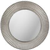 LuvBells Antique Silver Look Wall Mirror 20 inch Large Round Mirror Living Room Bedroom Circular Mirror Ornamental Round Mirr