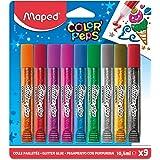 Pack de 9 tubos de pegamento con purpurina Maped 16x18cm. 813010