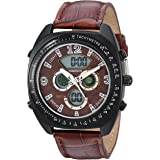 Timetech Men's Sport Multi-Function Tachymeter Wrist Watch with Matching Leather Strap Band
