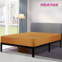 RelaxMax Terry Cotton Waterproof Mattress Protector (72X36inch Single Bed Size, Color - Soft Beige)