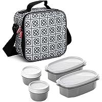 Tatay Urban Food Casual - Sac Isotherme Repas, Capacité 3 L, Avec 4 Boîtes Hermetiques en Plastique (2 x 0,5 L, 2 x 0,2…