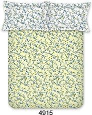 Bombay Dyeing Bedsheet Set, Yellow, 224 x 254 cm, 4915 B