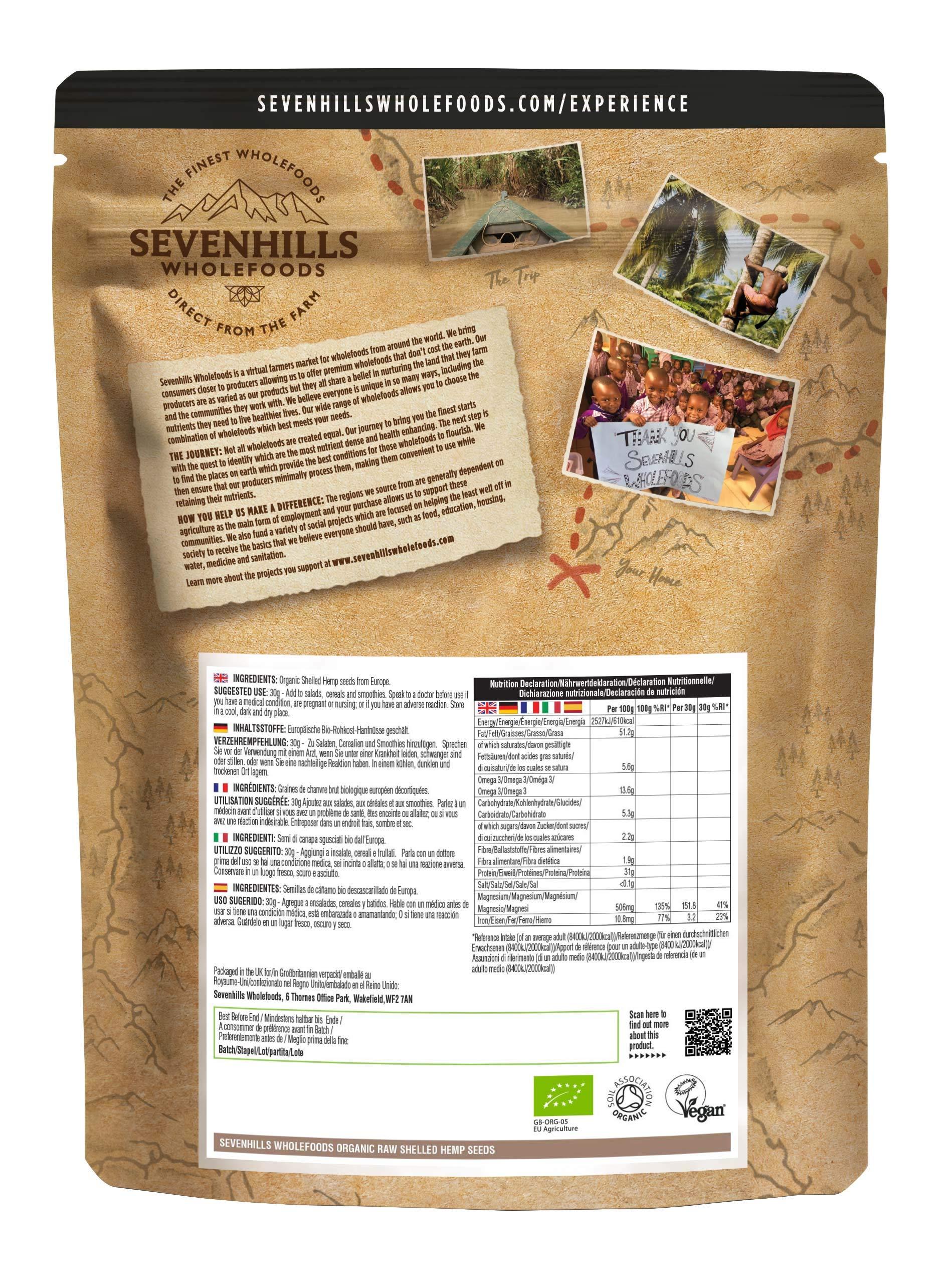 Sevenhills Wholefoods Organic Shelled Hemp Seeds 1kg 2