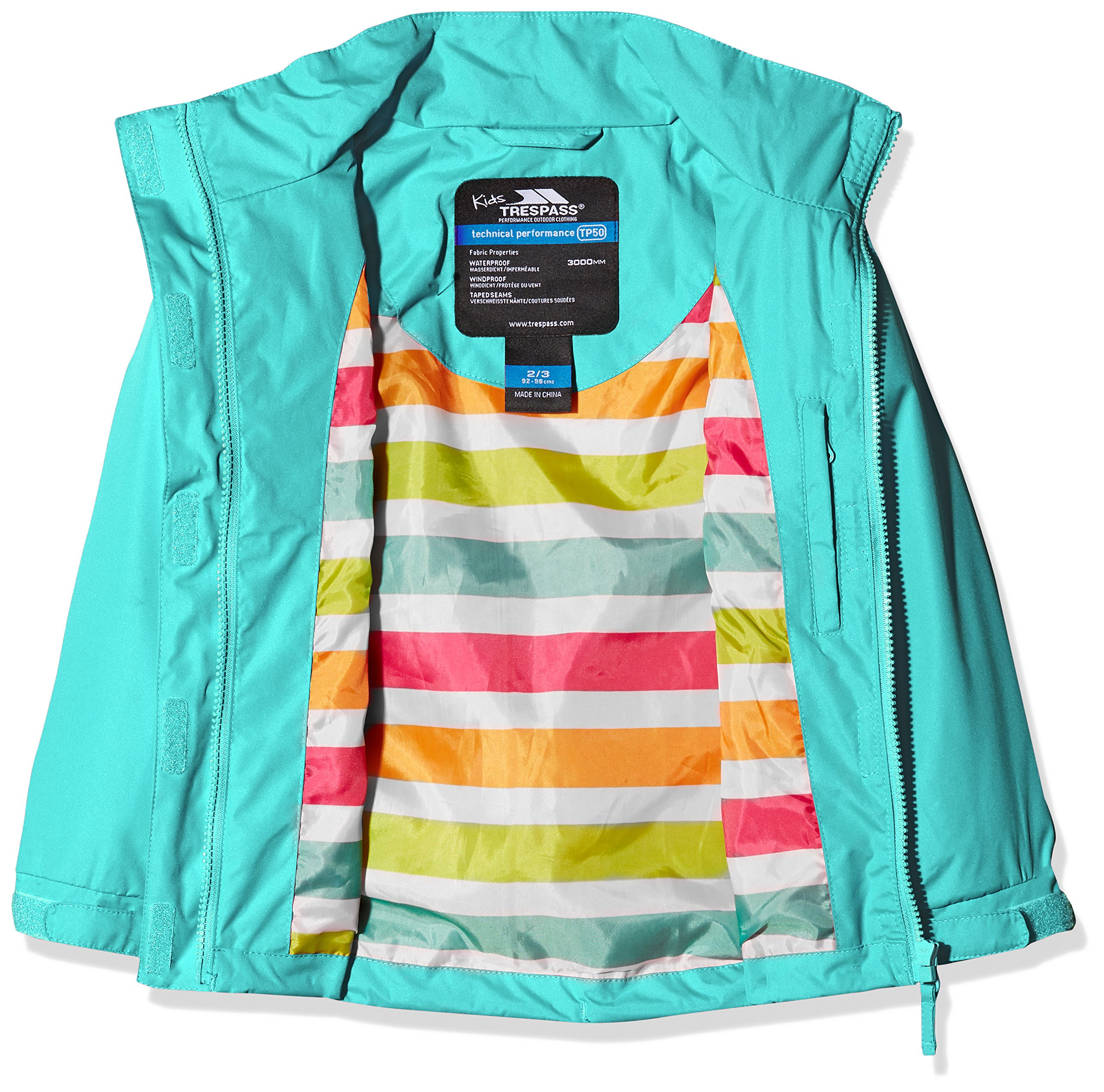 Trespass Kids' Lunaria Waterproof Rain/Outdoor Jacket 3