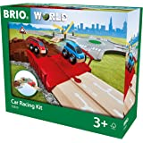 BRIO World Car Racing Kit for Kids Age 3 Years and Up, Compatible with All BRIO Train Sets