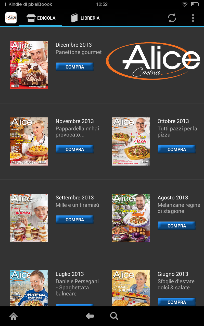 Alice cucina kindle tablet edition appstore for android - App cucina gratis ...