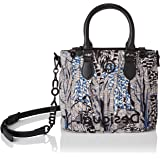 Desigual Accessories Fabric Hand Bag, Borsa a Mano. Donna, Bianco, U