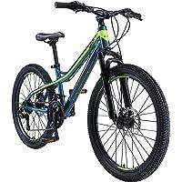 BIKESTAR VTT Vélo Tout Terrain pour Enfants de 10-13 Ans | Bicyclette 24 Pouces 21 Vitesses Shimano, Hardtail, Freins Disc, Suspension