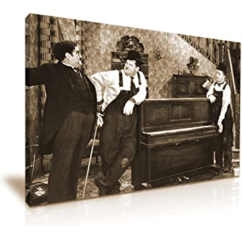 Laurel and Hardy Comedy Canvas Modern Wall Art 76x50cm