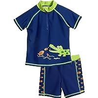 Playshoes UV-Schutz Bade-Set Krokodil Capo d'Abbigliamento Bambini e Ragazzi