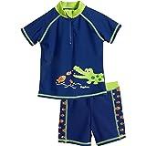Playshoes UV-Schutz Bade-Set Krokodil Capo d'Abbigliamento Bambino