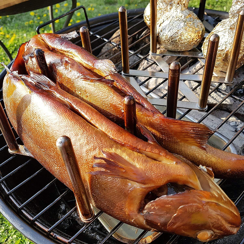 Sixt-BBQ I Premium Räucherchips Set Fisch Räuchern 4er I Wood Smoking Chips  für Forelle UVM  I Grill & Smoker I 2400g