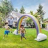 Teamson Kids Agua Diversión Aspersor Inflable De Arco Iris para Jardín TK-48251R