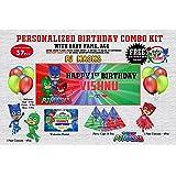 WoW Party Studio Personalized PJ Masks Theme Combo Kit (37 Pcs)
