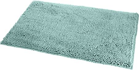 "AmazonBasics Anti-Slip Microfiber Bathroom Mat - Seafoam Green - 21"" x 34"""