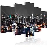 murando Cuadro en Lienzo 200x100 cm New York City Impresión de 5 Piezas Material Tejido no Tejido Impresión Artística Imagen