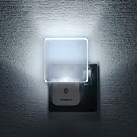 Integral LED, Plug in Walls with Dusk to Dawn Photocell, Auto Sensor Night Lighting for Hallways, Stairs, Bedrooms…