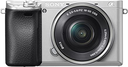 Sony Alpha 6300 E-Mount Systemkamera (24.2 Megapixel, 7,5 cm (3 Zoll) Display, XGA OLED Sucher, 4K, inklusiv 16-50 mm Objektiv) Silber