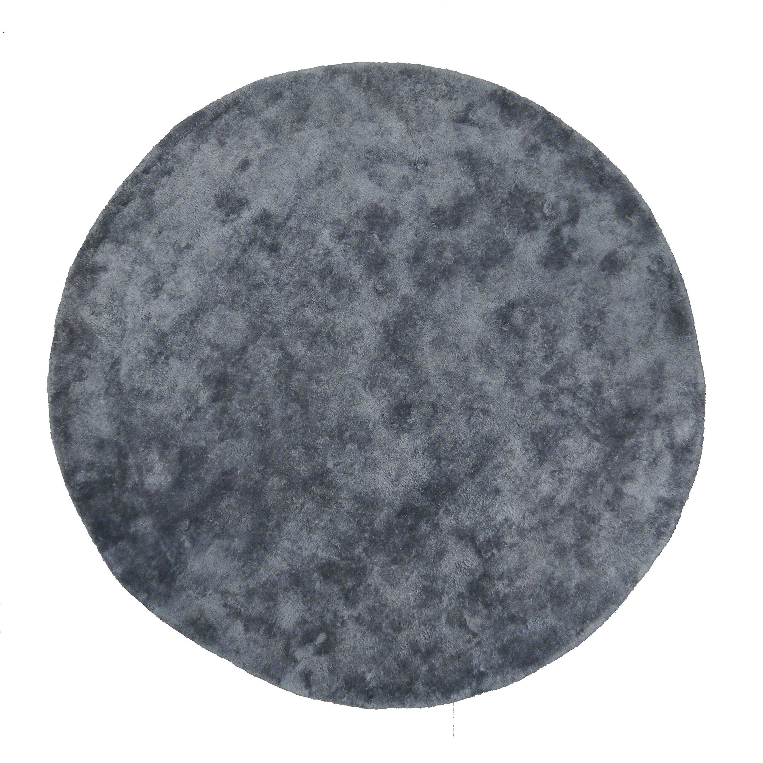 Pilepoil tappeto cerchio seta e cotone (130D, grigio scuro)